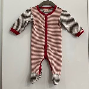 Coccoli Striped Long Sleeve Fitted Onesie